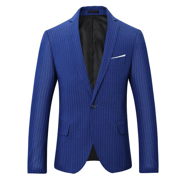 2-Piece Slim Fit Pinstripe Suit 2 Colors - Cloudstyle