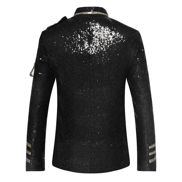 Slim Fit Costumed Sequin Blazer 3 Colors - Cloudstyle
