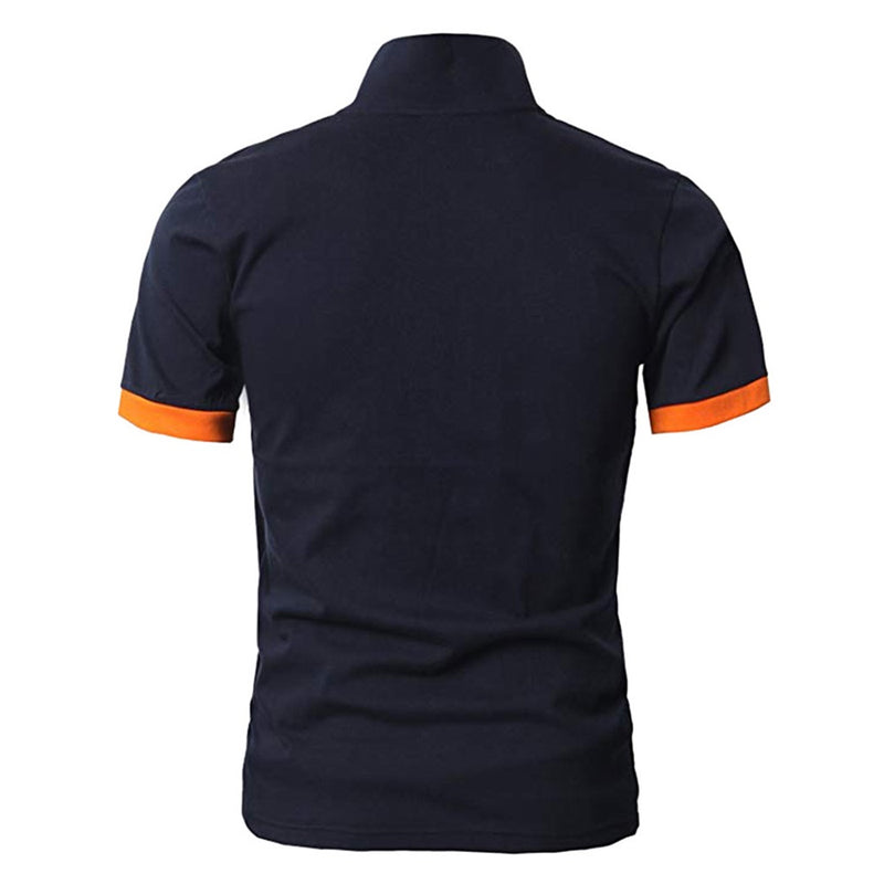 Essential Polos Navy & Orange Classic Polo Shirt