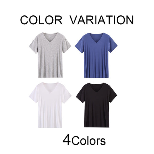 V-Neck Trackless Pajama T-Shirt 4 Colors