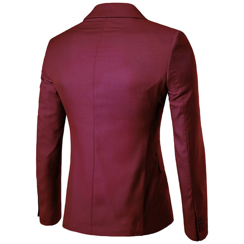 Burgundy Casual Blazer Slim Fit Business Blazer