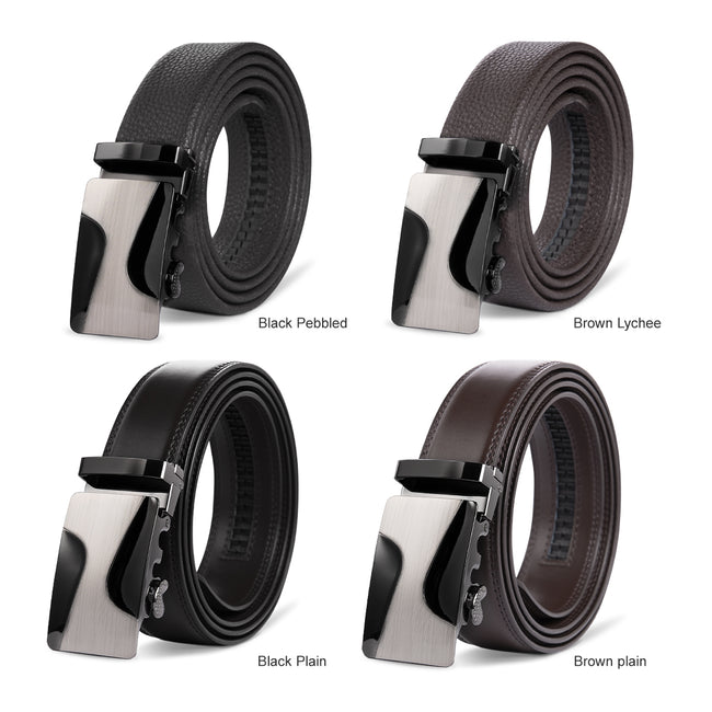 Electroplated Curve Shape Automatic Buckle Belt 4 Colors
