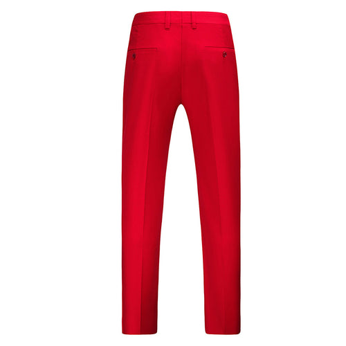 Red Modern Fit Straight Leg Classic Dress Pants