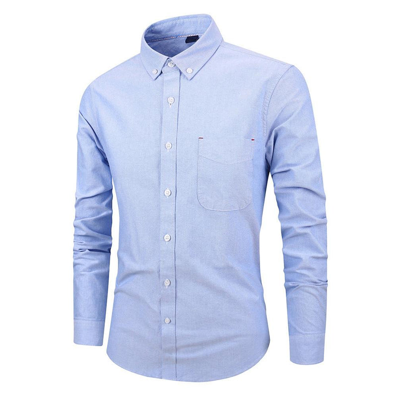 Slim Fit LightBlue Stylish Cotton Shirt