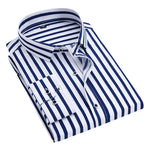 Slim Fit Pinstripe Shirt Blue