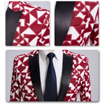 Slim Fit Check Print Blazer 2 Colors - Cloudstyle
