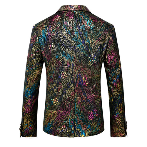 Sequin Shiny Jacket Slim Fit Dinner Blazer