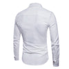 Slim Fit Ribbon Decorated Shirt White