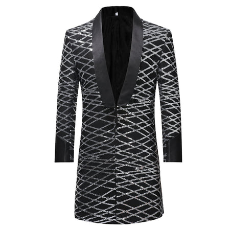 Slim Fit Tuxedo Sequin Blazer 2 Colors