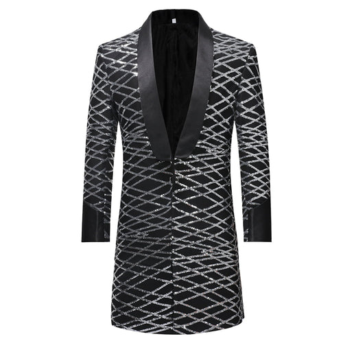 Slim Fit Sequin Robe Blazer 2 Colors