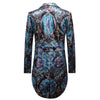 Floral Swallowtails 2-Piece Slim Fit Blue Suit