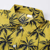 Coconut Tree Print Shirt Yellow Floral Shirt