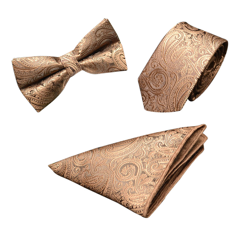 Paisley 3-Piece Bow-tie set 6 Styles - Cloudstyle