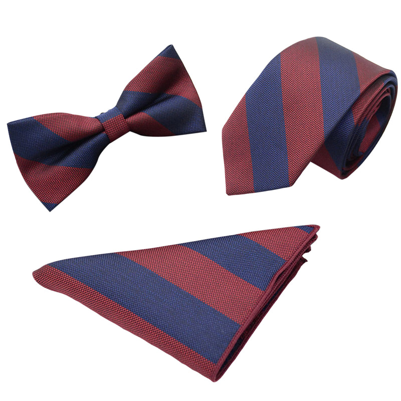 3-Piece Stripe Bow Tie Set 5 Styles - Cloudstyle