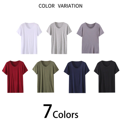 Loose Fit Thin Short Sleeve T-Shirt Modal Pajamas 7 Colors