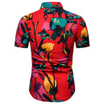Slim Fit Printed Shirt Red