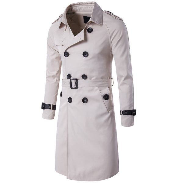 Slim Fit Belted Trench Coat 5 Colors - Cloudstyle