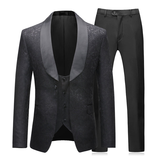 3-Piece Slim Fit Dress Suit 2 Colors - Cloudstyle