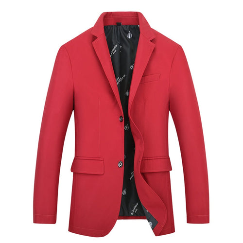 Red Fashion Jacket Slim Fit Casual Blazer