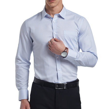 Slim Fit Stitching Shirt 2 Colors