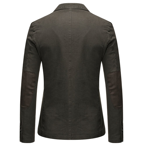 Dark Grey Two-Button Solid Color Jacket