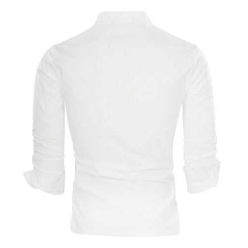 Regular Fit Pullover Casual Shirt White