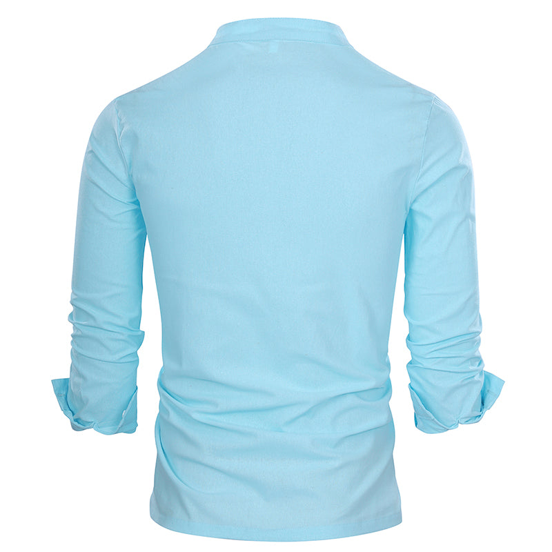 Regular Fit Pullover Casual Shirt LightBlue