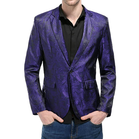 Slim Fit Costume Sequin Blazer 3 Colors