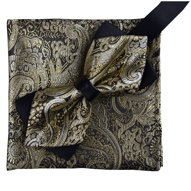 Paisley Bow-tie & Pocket Square 9 Styles