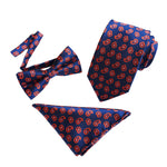 Paisley Floral Bow Tie Set For Suits 11 Styles - Cloudstyle