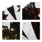 Shiny One Button Casual Sequin Party Jacket