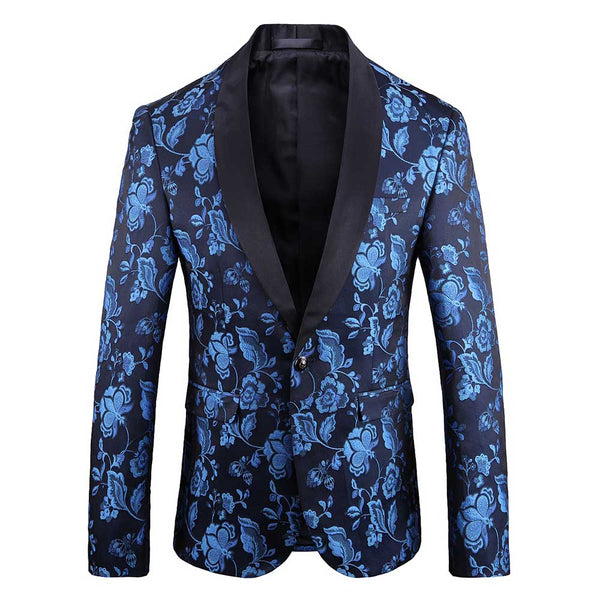 Slim Fit Casual Jacquard Blazer 3 Colors