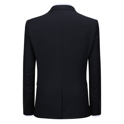 2-Piece Slim Fit Simple Designed Black Suit