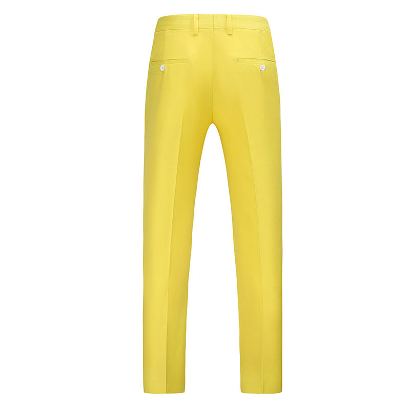Yellow Modern Fit Straight Leg Classic Dress Pants