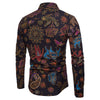 Slim Fit Printed Button Down Black Shirt