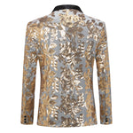 Gold Sequin Suit Slim Fit 2-Piece Suit