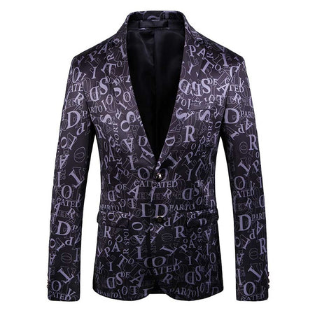 Slim Fit Sequin Satin Blazer 3 Colors