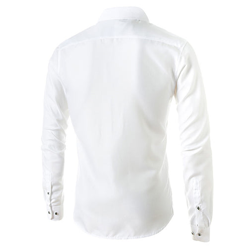 Slim Fit White Leisure Shirt