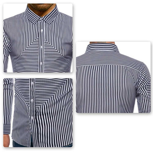 Regular Fit Stripe Casual Shirt Black