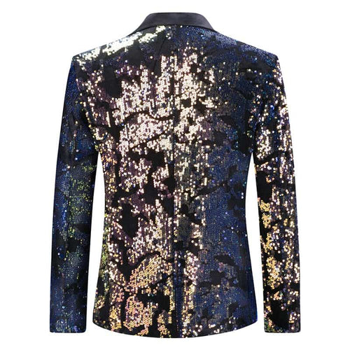 Slim Fit Converted Sequin Jacket Party Blazer