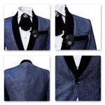 2-Piece Stylish Suit Slim Fit Blue Suit