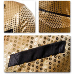 Gold Sequin Decorated Swallowtail Coat
