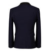 Knurling Design Stylish Navy Suit 3-Piece Suit