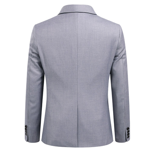 2-Piece Slim Fit Simple Designed Grey Suit