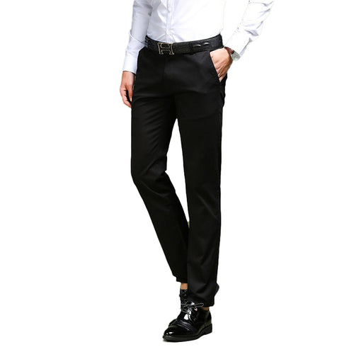 Modern Fit Elastic Pants Black