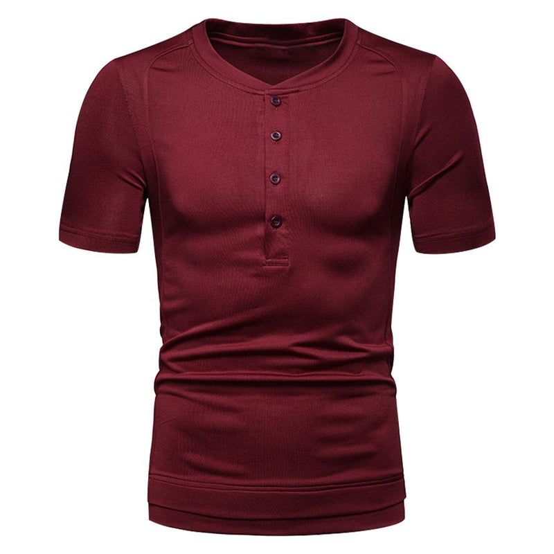 Slim Fit Casual Wear T-shirt Maroon