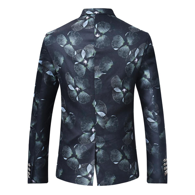 Slim Fit Floral Casual Blazer 4 Styles