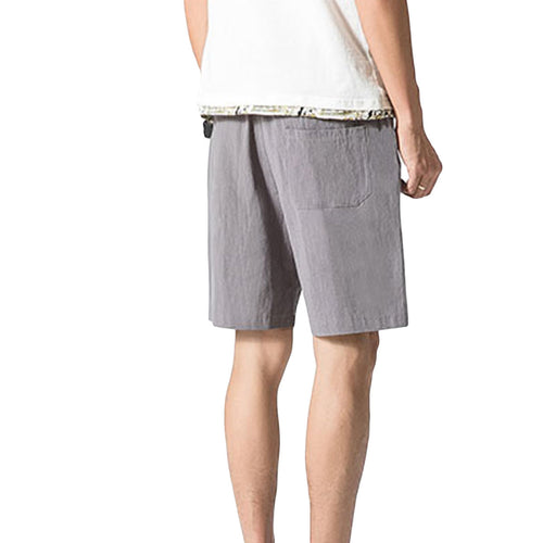 Loose Elastic Waist Shorts Grey