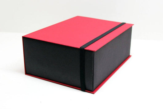 Book-Foldover Lid + Band Lock-Coover Box