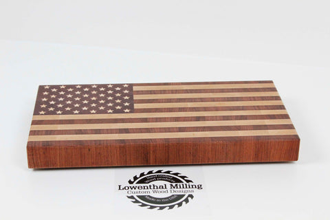 American Flag End Grain Cutting Board (Small)